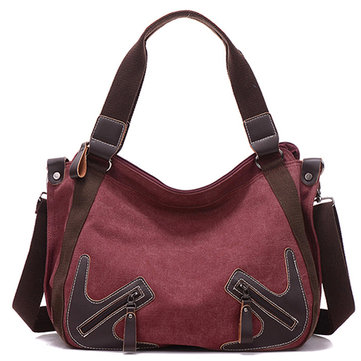 Women Durable Canvas Large Capacity Handbag