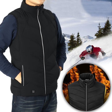 Men Women Outdoor Sports Body Warm Clothes Vest Winter Electric Jacket Heating Sleeveless Vest Overcoat