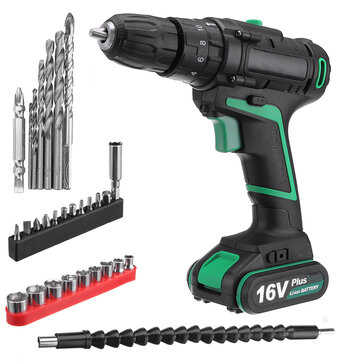 AC 100-240V Lithium Cordless Electric Screwdriver Screw Drill Driver Tool 1.5Ah 1 Charger 1 Battery