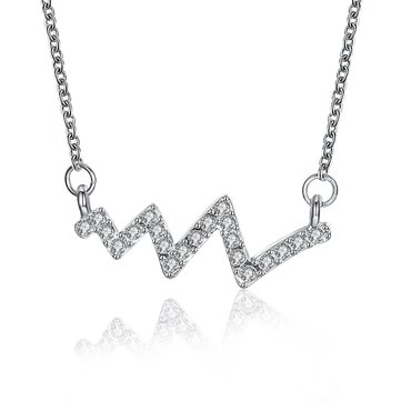 INALIS Trendy Silver Plated Zircon Necklace Geometrical