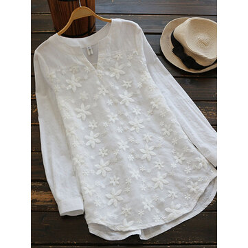 Women Floral Embroidery Blouse
