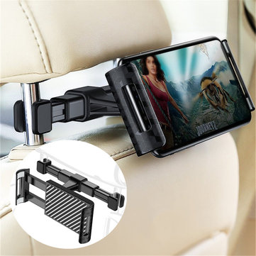 RAXFLY Adjustable Clip 360 Degree Rotation Car Head Rest Holder Mount for Xiaomi Mobile Phone Tablet