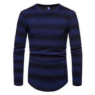 Men's Stripe Gradient Style Sweaters Pullovers
