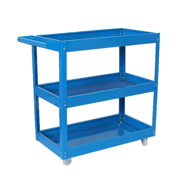 Multifunction Tray 3 Tier Tool Cart Wheel Rolling Storage Tool Garage Workshop