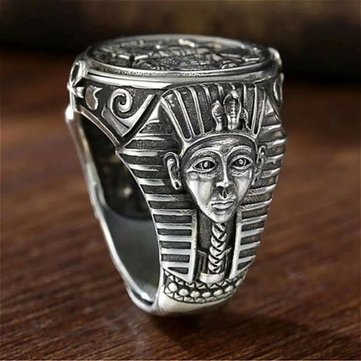 New Vintage Horus Anubis Wanderer Ring Ancient Egyptian Personality Men's Ring