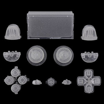 Full Set Buttons Glow in the Dark Dpad Replacement Parts For Sony PS4 Controller
