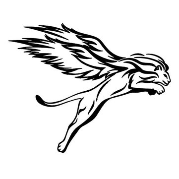 25x20cm Winged Lion Reflective Car Stickers Auto Truck Vehicle Motorcycle Decal