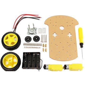 スマートモーターロボット車のバッテリーボックスシャーシキットArduino用DIYスピードエンコーダー