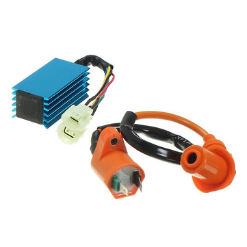 Buy Ignition Coil with 6 Pin Racing performance AC CDI Box For Gy6 50cc 150cc Scooter for $12.07 in Banggood store
