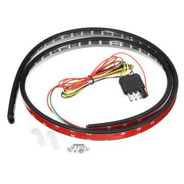 90cm 120cm 150cm Car LED Tailgate DRL Flexible Strip Light Brake Turn Signal Lamp Bar for Truck