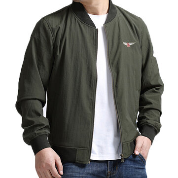 Plus Size S-5XL Casual Loose Spring Varsity Jacket Flight Jacket for Men