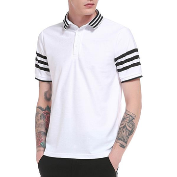 Men's Fashion Stripes Casual Golf Shirt