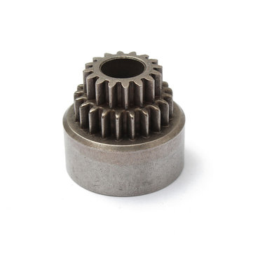 1PCS HSP 1/10 02023 Clutch Bell Double Transmission For 1/10 RC Car Parts 94122/94166 Diff Spur Gear