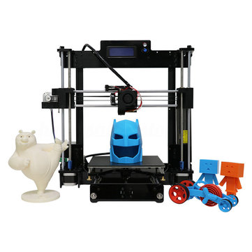 Anycubic® Upgrade Reprap I3 DIY 3D Printer US Version 210*210*250mm Printing Size Ultrabase Platfrom/Dual Fans With 1KG PLA Filament 1.75mm 0.4mm Nozzle