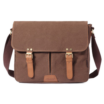 KUAKKO Men Women Canvas Simple Casual Shoulder Messenger Crossbody Bag