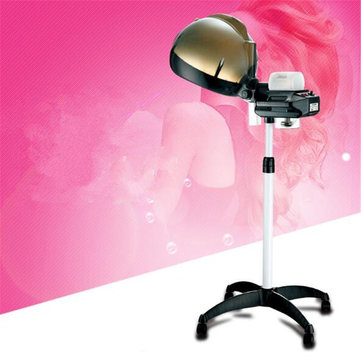 Professional Salon Hair Hairdressing Care Steamer Rolling Stand Base Beauty Hood Color Machine