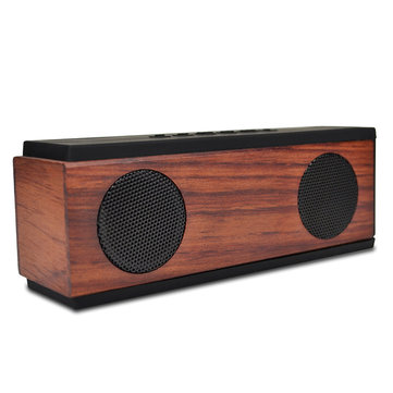 SG-500 6W Bluetooth Wireless Portable Hi-Fi Wood Speaker Stereo Mini Subwoofer Support AUX USB