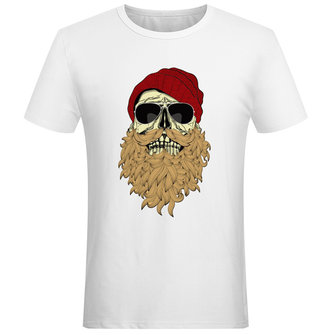 Full Beard Skull Punk With Sunglasses Cool Tops T-shirt Novelty Design Printed Men Women Tee