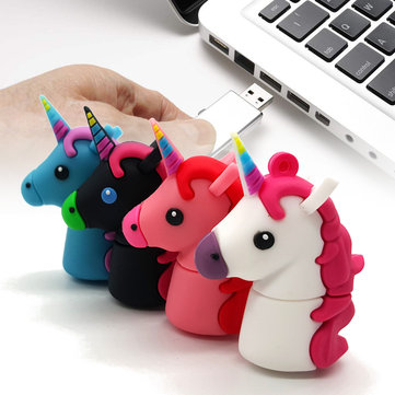 16G 32G Cute Horse USB 2.0 Flash Drives USB Memory Stick Cartoon Pen Drive