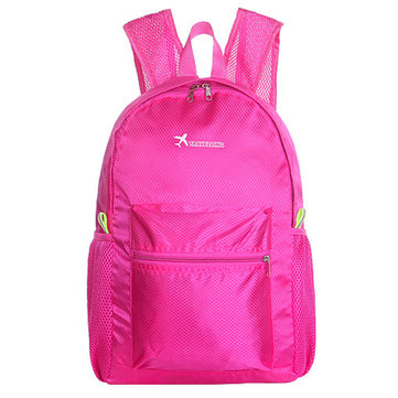 Women Nylon Waterproof Net Backpack Book Bags