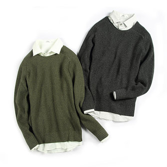 Casual Solid Color O-Neck Collar Pullovers