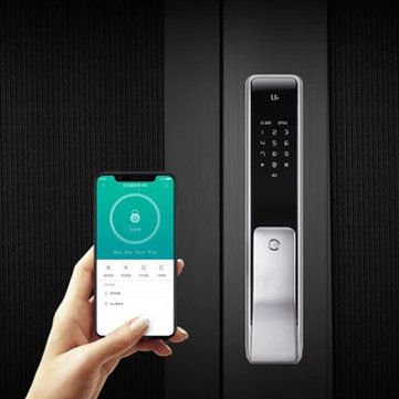 XIAOMI M2 Smart Automatic Fingerprint Sliding Lock Password Keyless Intelligent Security Door Lock