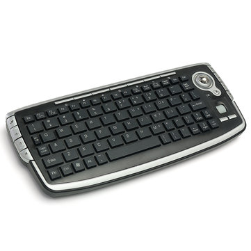 Mini 2.4GHz Wireless Media Centre Keyboard With Trackball Mouse For PC PS4 Smart TV