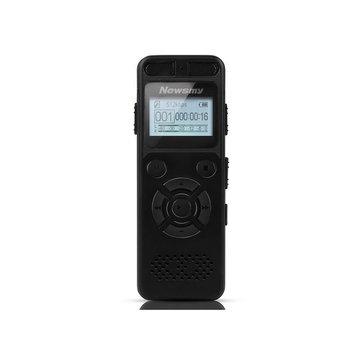 Newsmy RV29 8GB 1536KBPS PCM Dual Micrófono 138 Hour A to B Repeat Voice Recorder