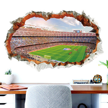 Miico 3D Creative PVC Wall Stickers Home Decor Mural Art Removable Gymnasium Wall Decals