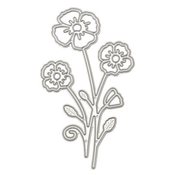Flower Metal Cutting Dies Scrapbooking Photo Album DIY Decoration