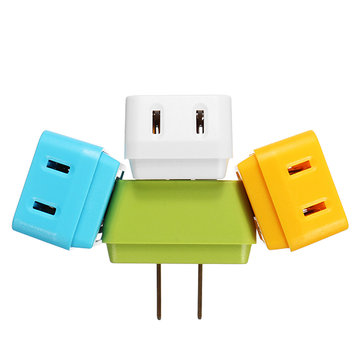 Colorful 1 to 3 US to US Trapezoid Plug Adapter Switch