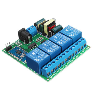 AC 110V/220V 4 Channel Bluetooth Relay Module Android Mobile Wireless Remote Control Switch