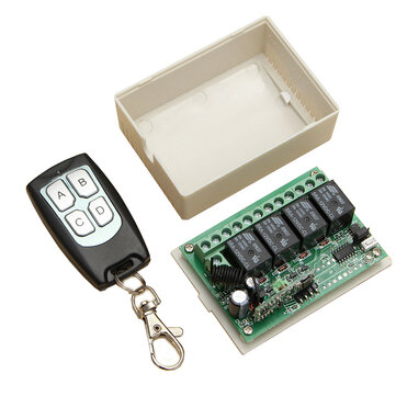 12V 4CH Channel 433Mhz Wireless Remote Control Switch Transceiver Receiver Module