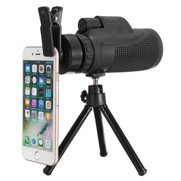 40x60 Telephoto Monocular камера Объектив Телефонный клип с Штатив