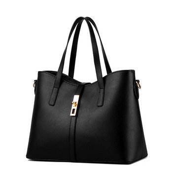 Women Candy Color Simple Leather Tote Bags Elegant Shoulder Bags Crossbody Bags