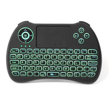 iPazzPort KP-810-21Q 2.4G sans fil italien trois couleurs rétro-éclairé Mini clavier Touchpad Air Mouse