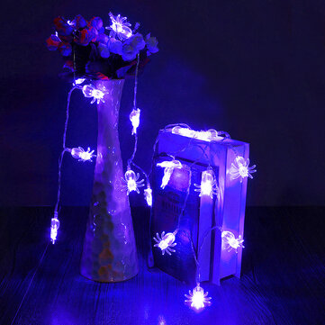 20 Blue LED Spider Light Halloween Party Decration Lights