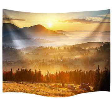 IPRee™ 153x102CM Outdoor Travel Beach Towel Mat Sunny Sunshine Polyester Hanging Tapestry