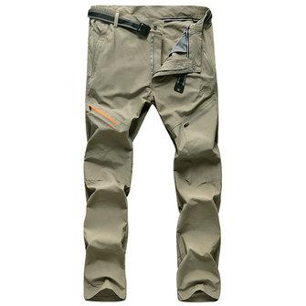Mens Sports Outdoor Elastic Leisure Pantalons de séchage rapide respirant Pantalons de montagne Alpinisme