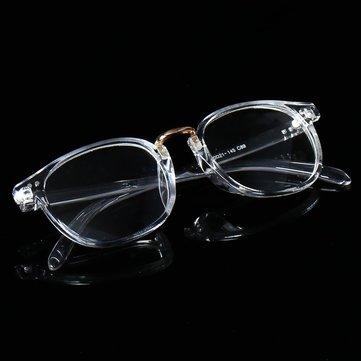 Plástico unisex redondas gafas de marco transparente lentes de la ...