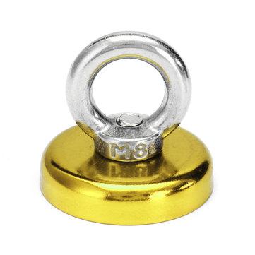 Effetool 48x46mm 90KG Neodymium Recovery Magnet Red/Yellow/Blue Eyebolt Hook Magnet Metal Detector