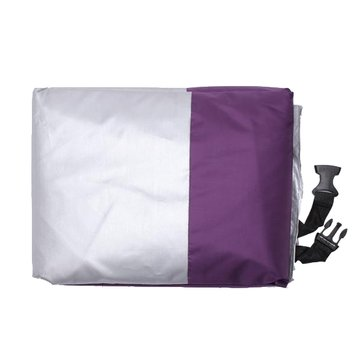 Motorcycle Rain Dust Cover Waterproof UV Protection Purple+Silver M L XL XXL