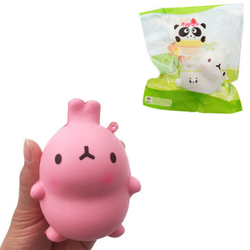 Giggle Bread Rabbit Squishy 9*7cm Slow Rising With Packaging Collection Gif Decompression Toy