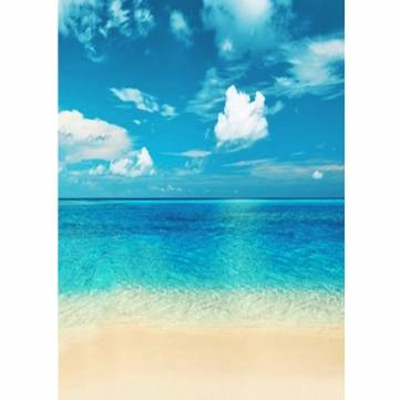 1.5x2.2M 5x7FT Sea Beach Blue Sky White Clouds Vinyl Photography Background Backdrop Studio Photo