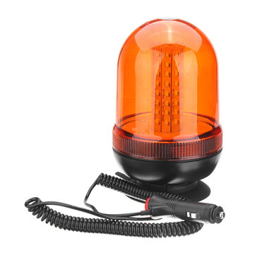 18W IP65 LED Magnetic Mount Rotating Flashing Amber Dome Beacon Recovery Car Warning Signal Light