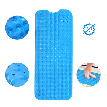 Bathtub Mats Non-Slip Mildew Resistant Anti-Bacterial Extra Long Pebbled Bathroom Shower Floor Mat