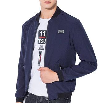 Vårhöst Casual Fashion Slim Bomber Jackor Varsity Jacket för män