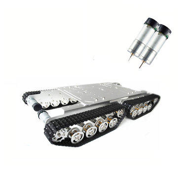 TS600 4WD Shock Absorber Aluminum Alloy Frame 9V Motor Tank Chassis Car Kit for Arduino Robot