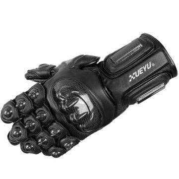 Carbon Fiber Leather Gloves Skidproof Full Finger For Racing Cycling