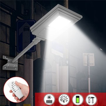 20W Waterproof Solar Powered Street Light Remote/Light Control with Bracket Outdoor Garden Walkway